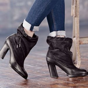 Rag & Bone | Holt Drawstring Black Ankle Booties